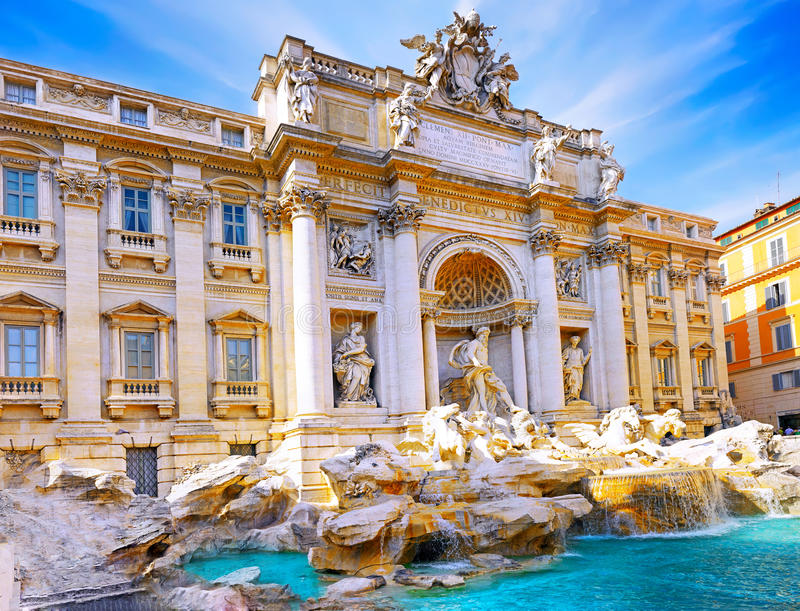 Фонтан di Trevi, Рим. Италия. стоковое изображение