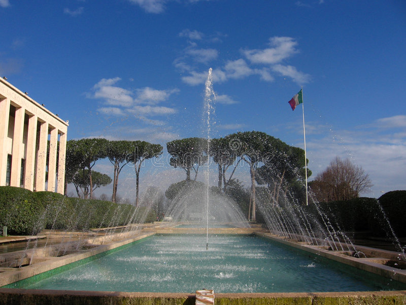 фонтан eur стоковое изображение
