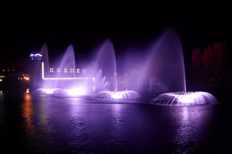 фонтан roshen vinnytsya Украины стоковые изображения