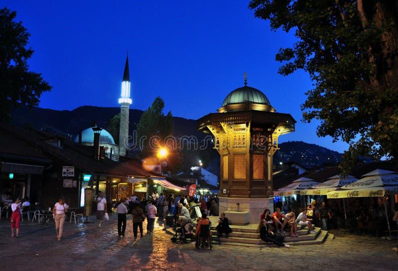 Фонтан Sebilj, Сараево Босния и Герцеговина стоковые фото