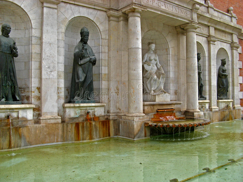 фонтан valencia стоковая фотография
