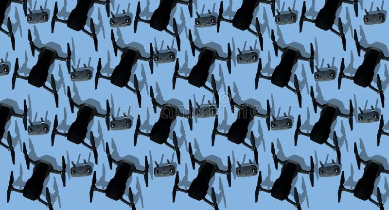 Фон беспилотных летательных аппаратов изолирован стоковые изображения rf