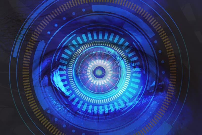 Фон зрения и биометрии иллюстрация штока