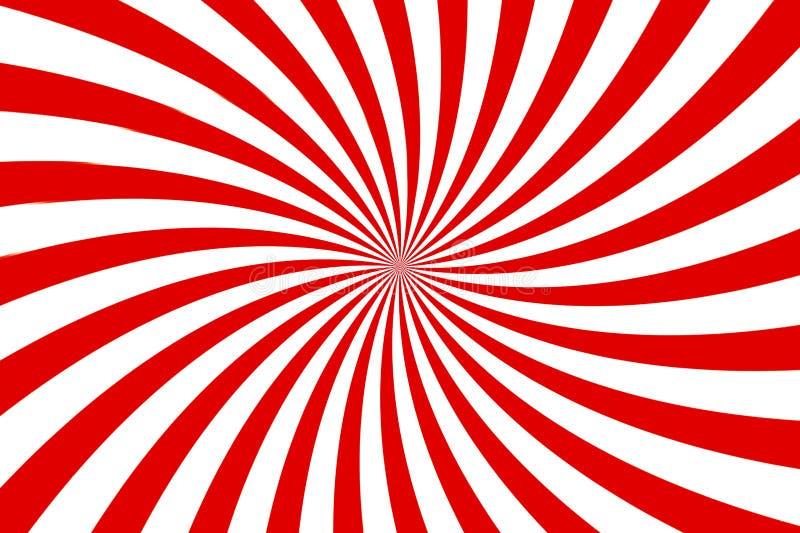Фон красно-белых вспышек Стиль дизайна иллюстрации иллюстрация штока