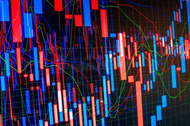 Фондовая биржа закавычит диаграмму бесплатная иллюстрация