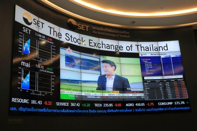 Фондовая биржа КОМПЛЕКТА Таиланда стоковое изображение