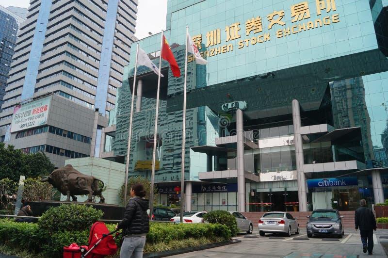 Фондовая биржа Шэньчжэня стоковая фотография rf