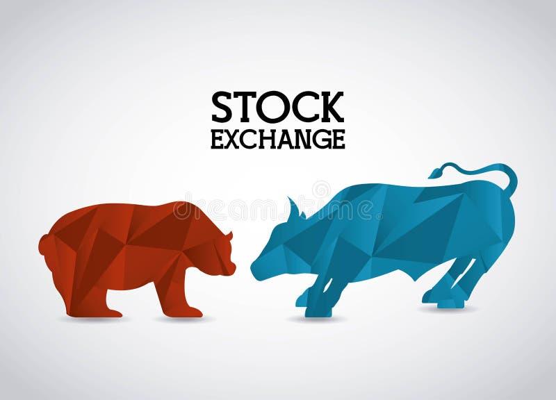 Фондовая биржа иллюстрация вектора