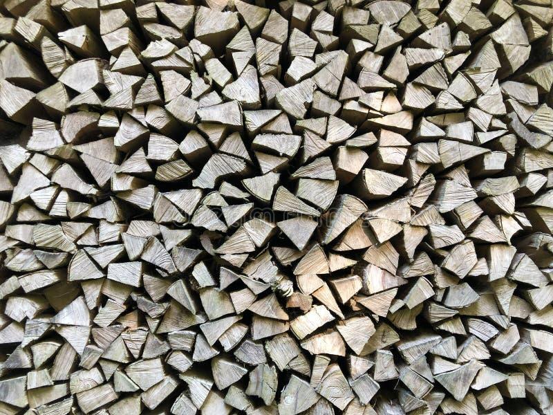Фон сухого рубленного дровяного бревна в куче, Буочс стоковое изображение rf