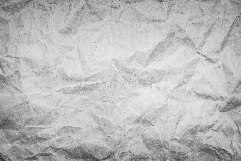 Фон текстуры, покрытой старым белым крахом, измельченной бумагой стоковые фотографии rf