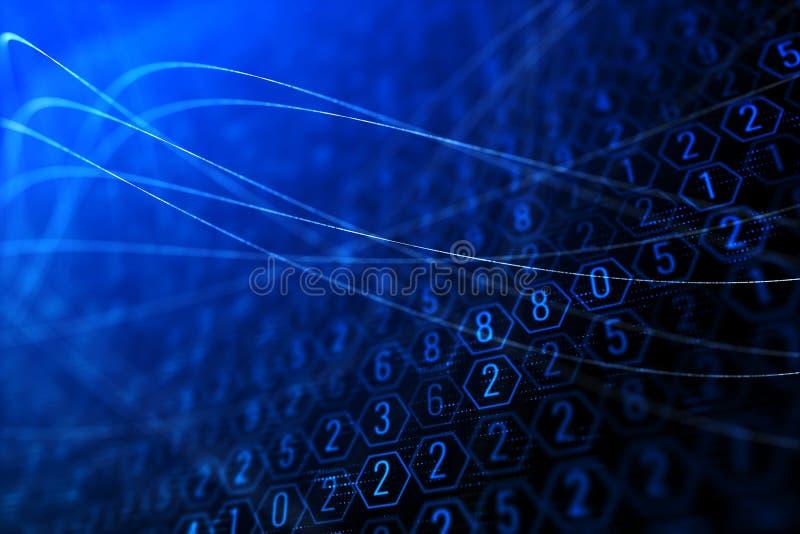 Фон шестиугольника цифров бесплатная иллюстрация