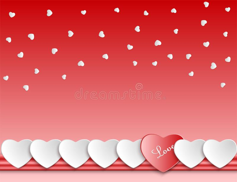 Composition background with hearts, love theme. royalty free illustration