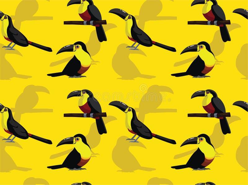 Фон Bird Ariel Toucan Seamless Background Wallpaper-01 иллюстрация штока