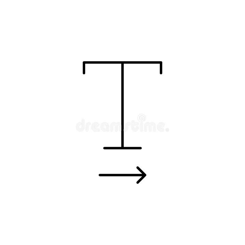 Формат, текст, значок оформления Элемент текста и оформления для мобильных концепции и значка приложений сети Тонкая линия значок иллюстрация вектора