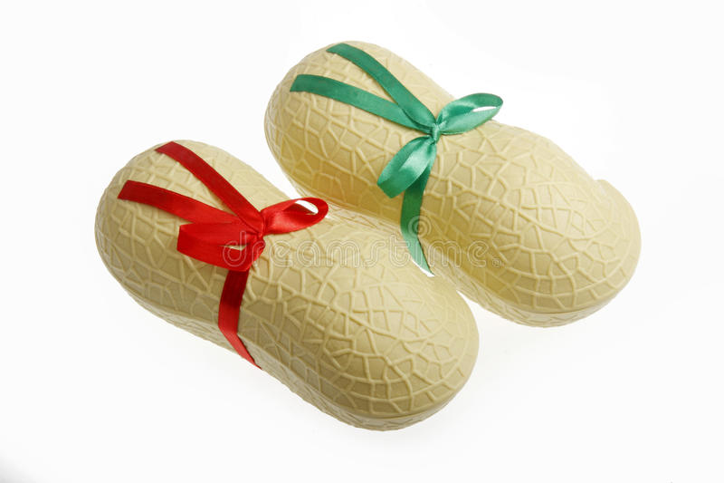 форма арахиса подарка коробки стоковое изображение rf