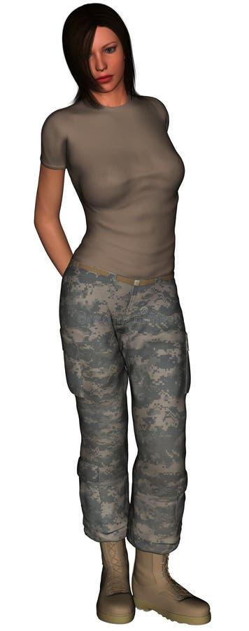 форма армии мы детеныши женщины иллюстрация штока