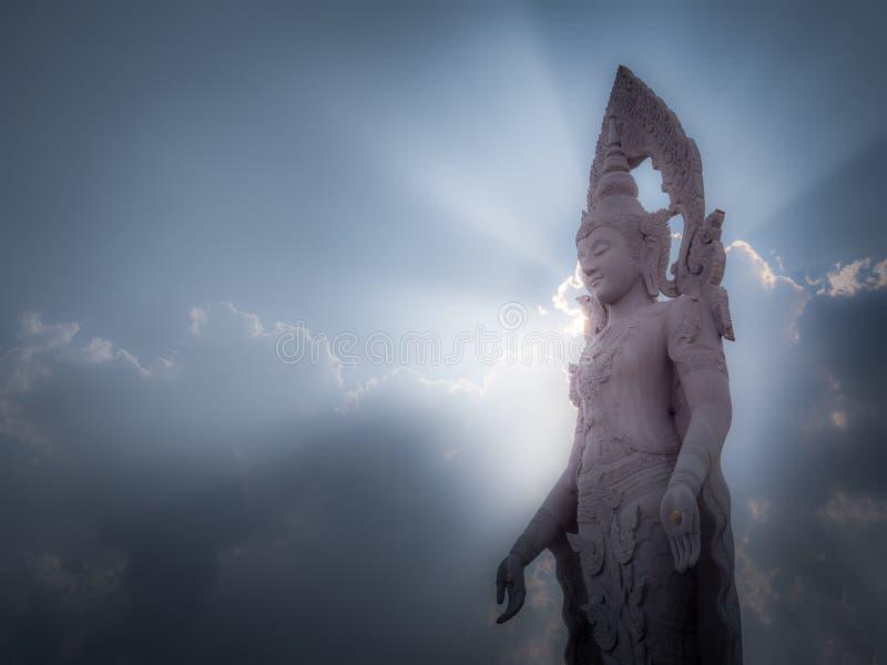Форма Будда света auro стоковое изображение