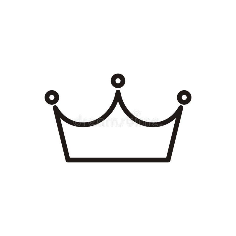 Форма вектора дизайна логотипа кроны и польза цвета eazy иллюстрация штока