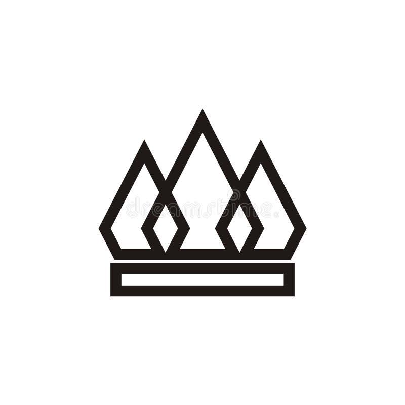 Форма вектора дизайна логотипа кроны и польза цвета eazy бесплатная иллюстрация