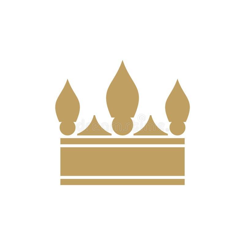 Форма вектора дизайна логотипа кроны и польза цвета eazy стоковые изображения