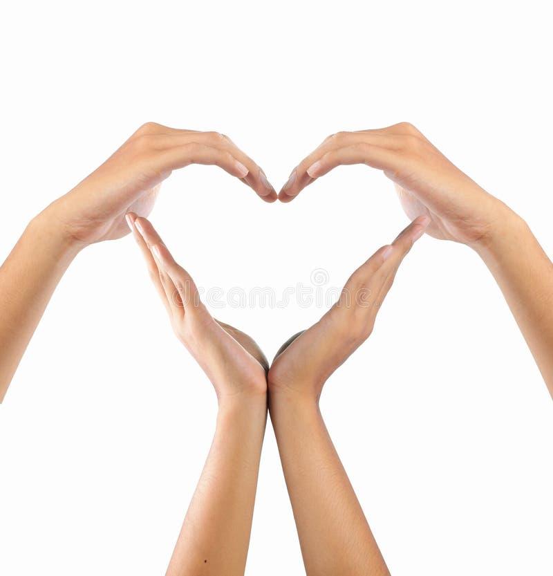 форма влюбленности рук стоковые фото