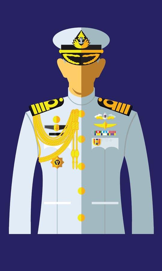 Форма военно-морского флота белая иллюстрация штока