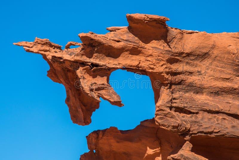 Форма демона песчаника стоковые фотографии rf
