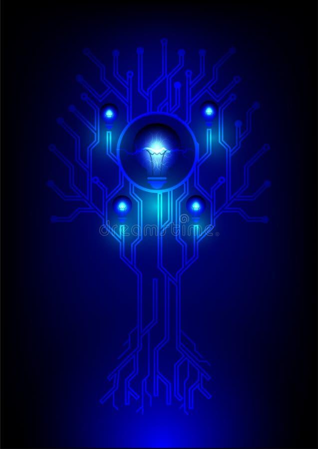 Форма дерева электрического контура иллюстрация вектора