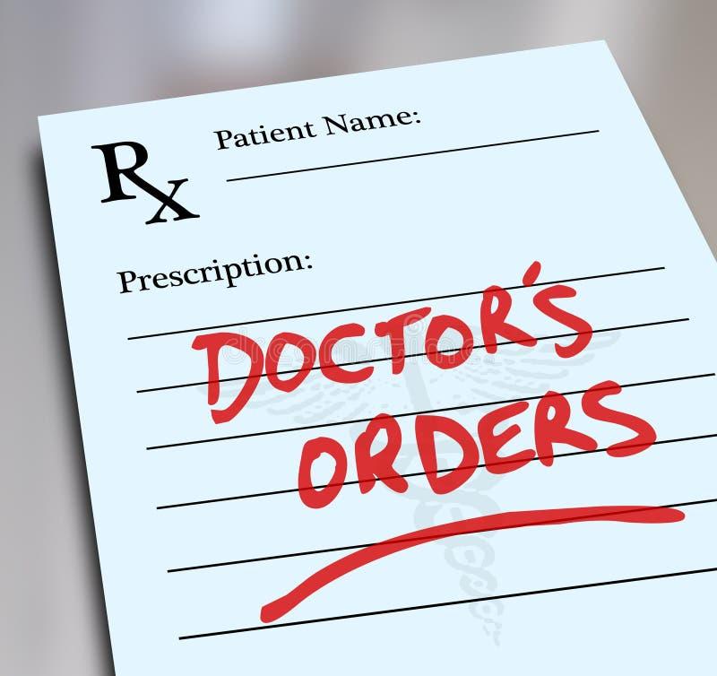 Форма Заказа Рецепта Медицины Здравоохранения доктора иллюстрация вектора