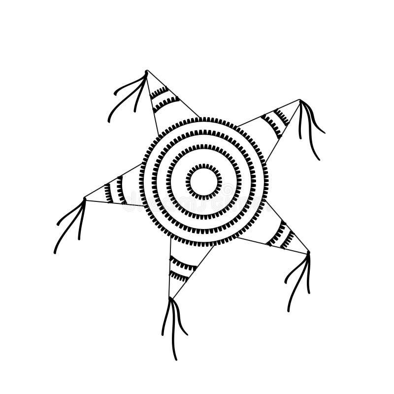 Форма звезды Pinata иллюстрация вектора