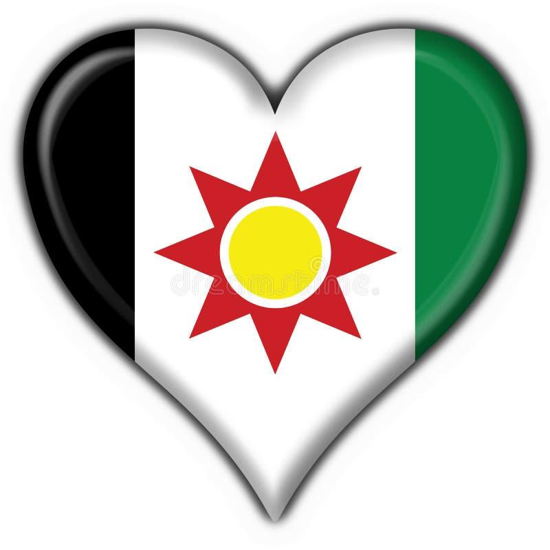 форма Ирака сердца флага кнопки иллюстрация вектора