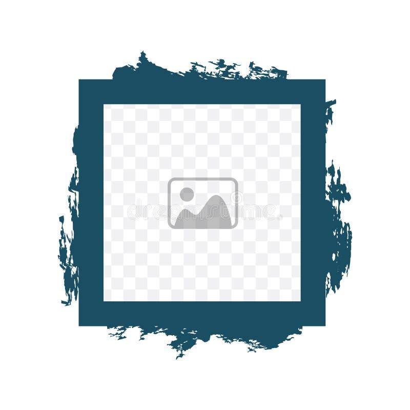 Форма квадрата рамки фото простоты геометрическая со стилем grunge смешанные стили Плакат Grunge Плакат стены также вектор иллюст иллюстрация вектора