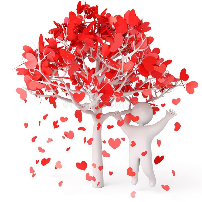 форма лепестков сердца розовая иллюстрация штока