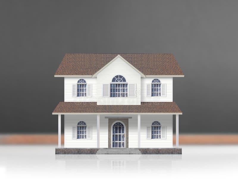 Форма модельного дома деревянная диаграммы стоковое изображение