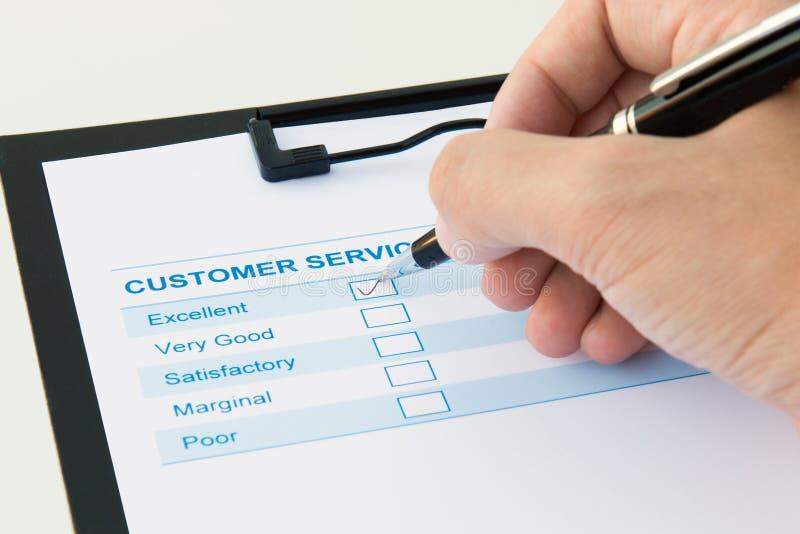 Форма оценки клиента стоковое изображение rf