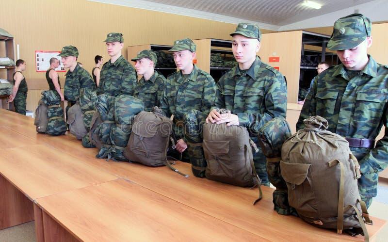 форма призывников армии воинская получая стоковое изображение