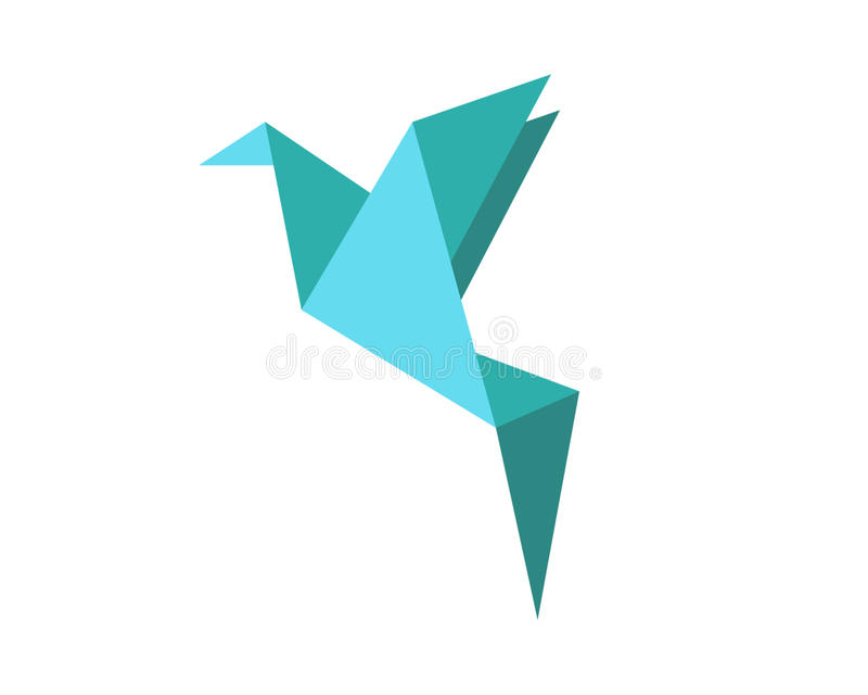 Форма птицы Origami стоковое фото