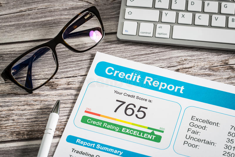 Форма риска применения подержания банка кредитного рейтинга отчета стоковые изображения rf