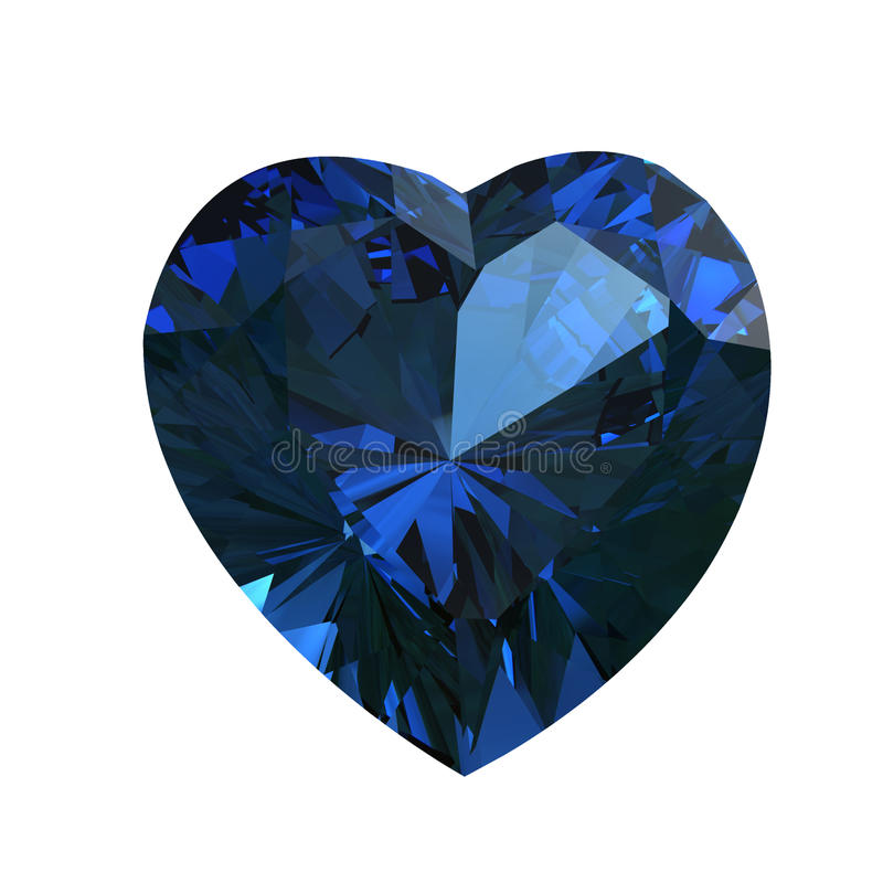 форма сапфира сердца gemstone иллюстрация штока