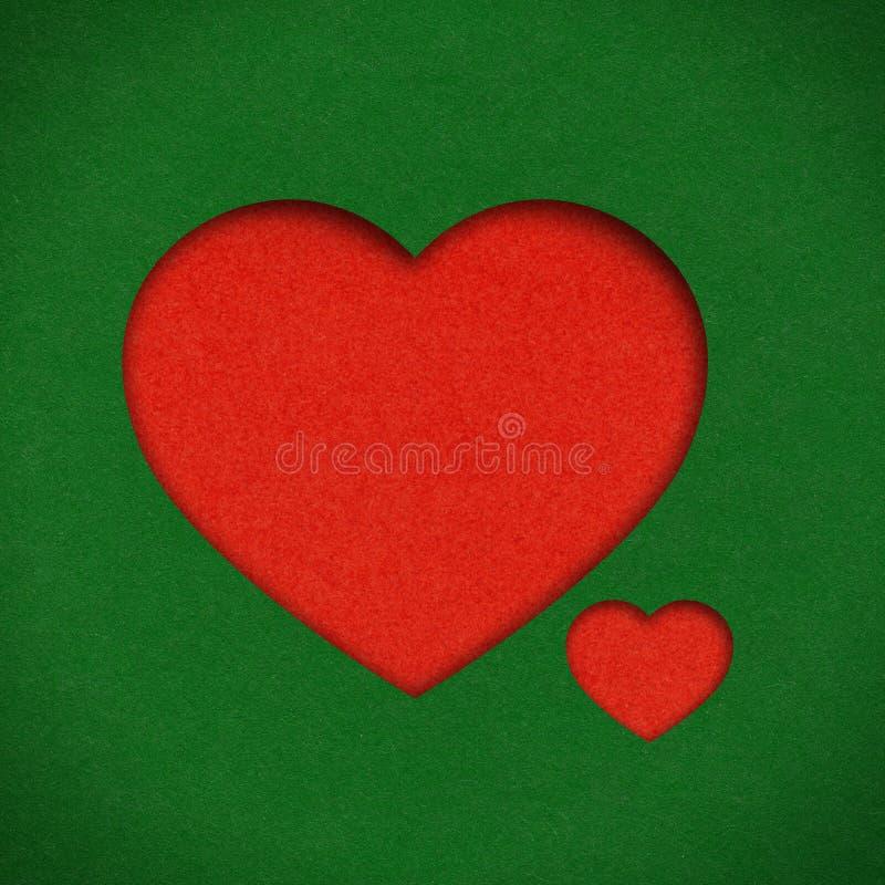 Форма сердца сделанная из бумаги стоковая фотография