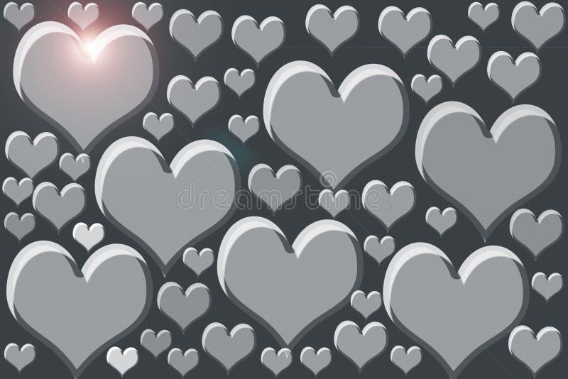 Форма сердца WHITE/GREEN/BLUE/OR СЕРАЯ покрашенная на черной поверхности бесплатная иллюстрация