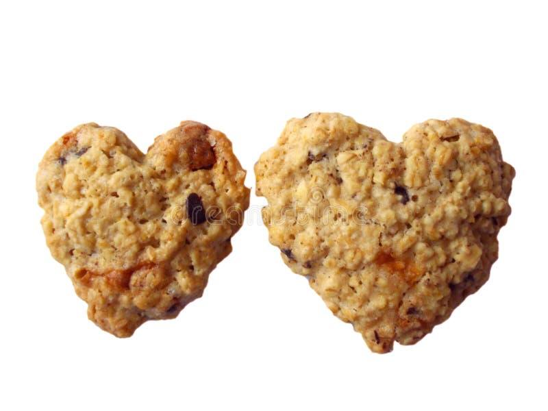 Форма сердца 2 печений совместно стоковое изображение rf