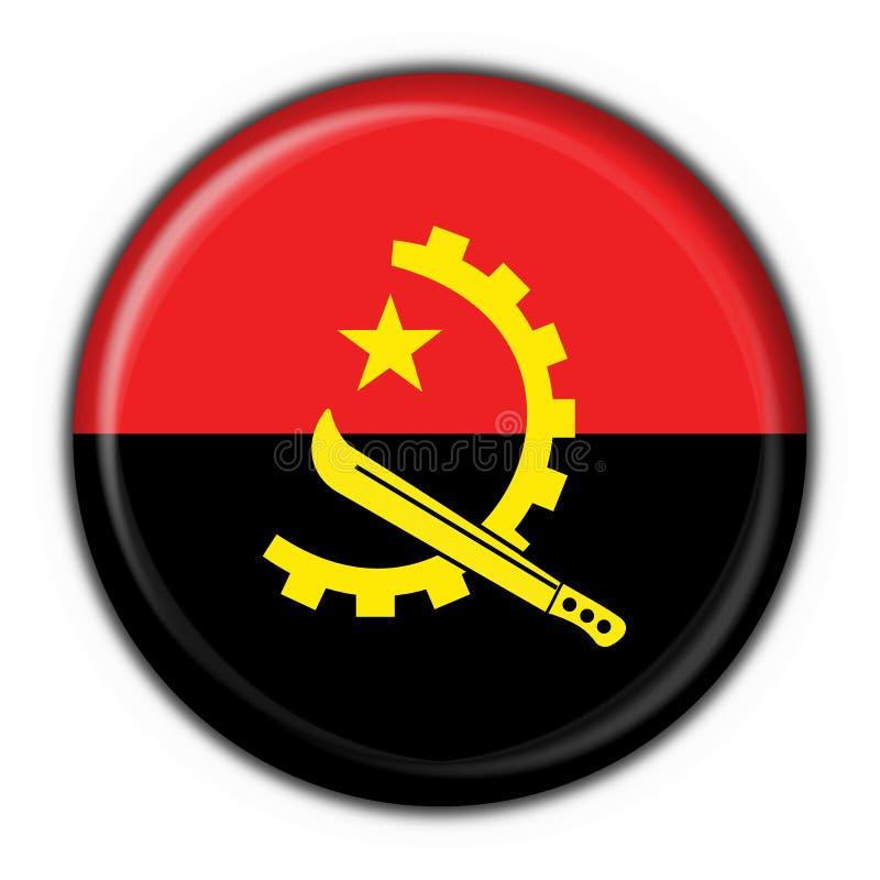 форма флага кнопки Анголы круглая иллюстрация штока