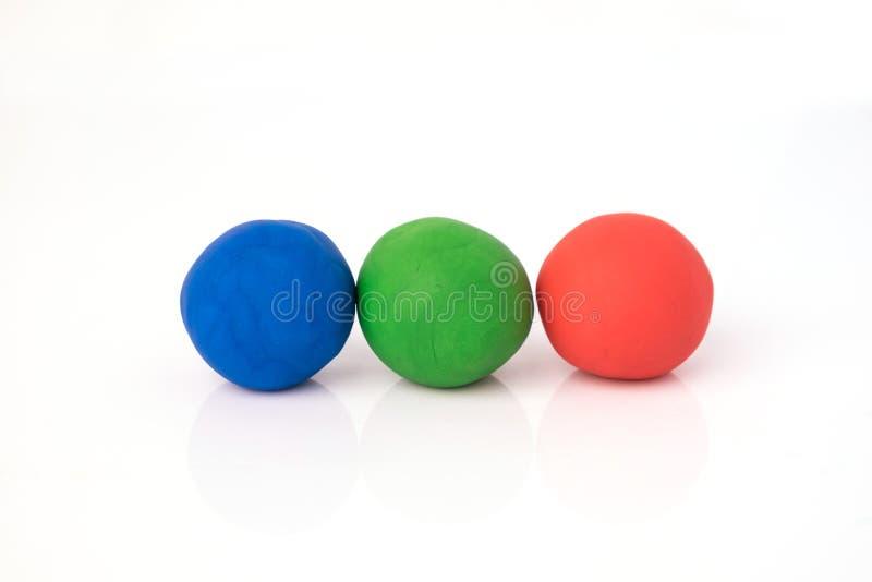 Форма шарика теста игры на белой предпосылке стоковые изображения rf