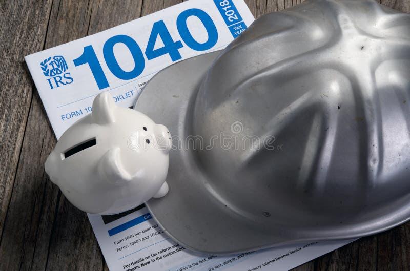Форма IRS 1040 стоковое фото rf