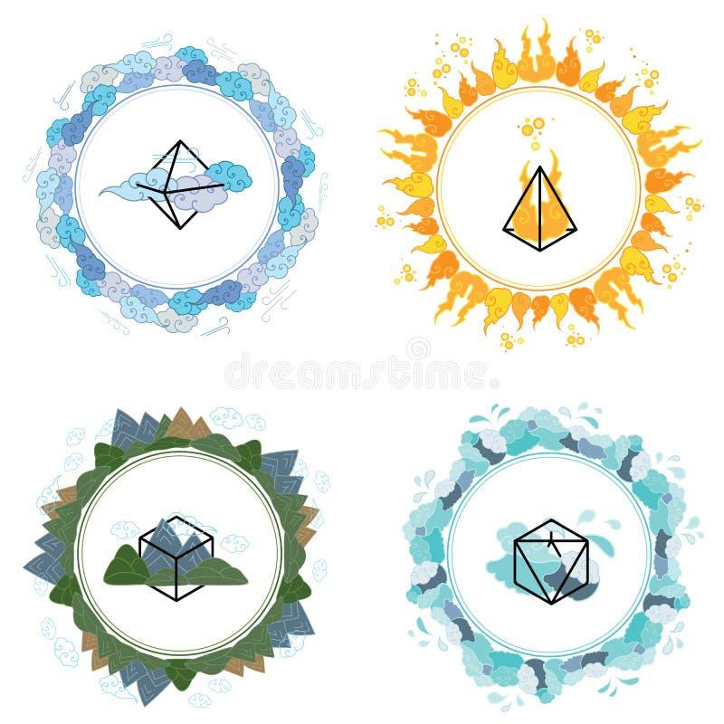 Формирует круги элементов бесплатная иллюстрация