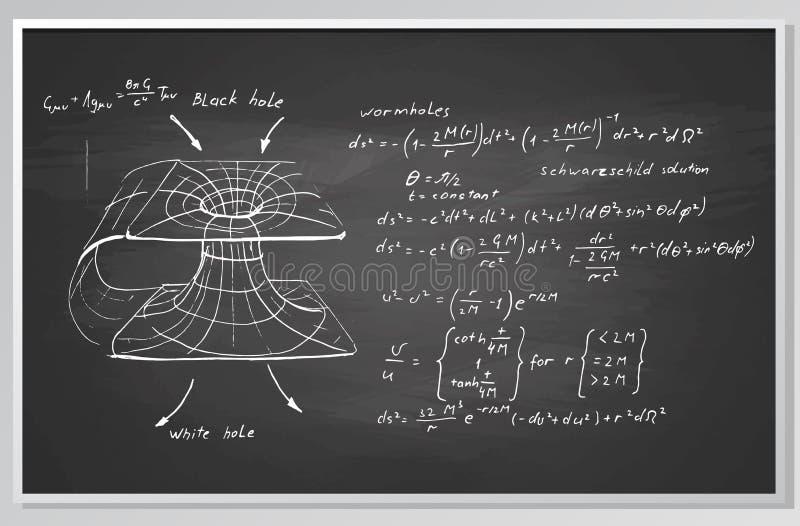 Формула и диаграмма на доске иллюстрация штока