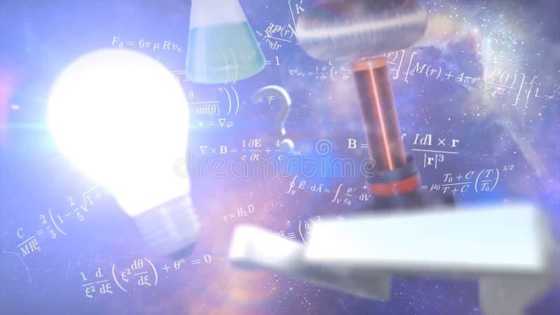 Формулирует электричество, магнетизм, оптику Абстрактные предпосылки, абстрактная матрица любят предпосылка Поле звезды в глубоко стоковое фото