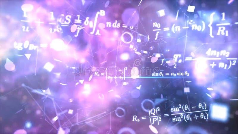 Формулирует электричество, магнетизм, оптику Абстрактные предпосылки, абстрактная матрица любят предпосылка Поле звезды в глубоко стоковая фотография rf