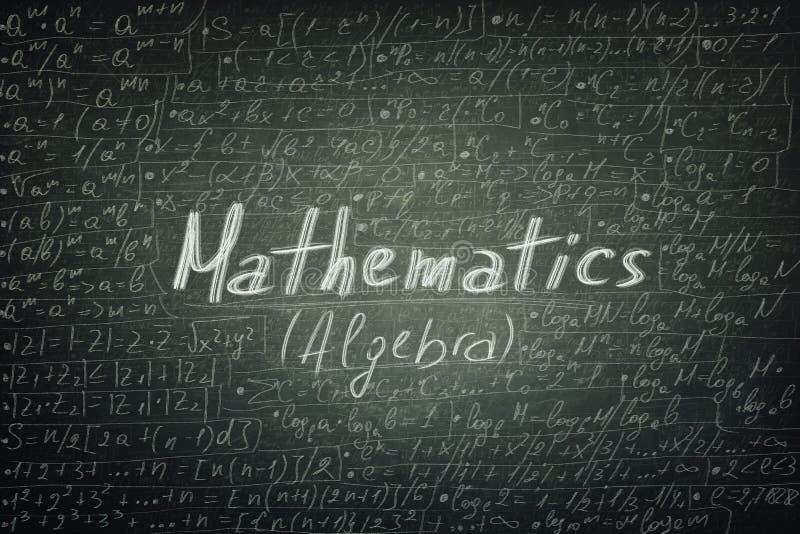 Формулы математики стоковая фотография
